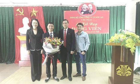 Lễ kết nạp Đảng viên mới chi bộ 4 – Đảng bộ Tổng Công ty Cổ phần Hợp Lực